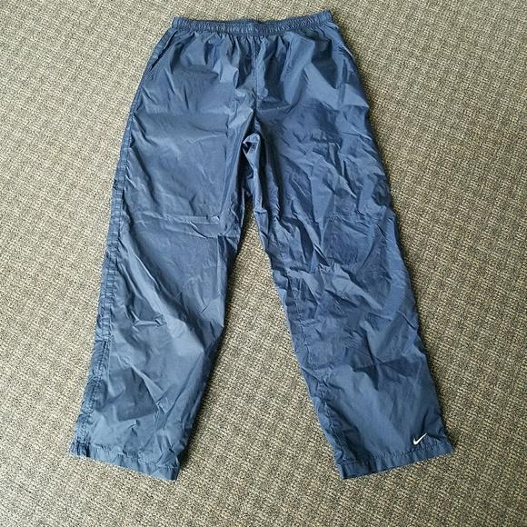 NIKE Lined Blue Nylon Track Wind Pants Running XL.  M 5af9bc959a945552e49f2d02 f5c160216